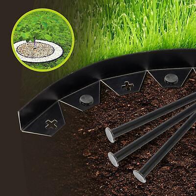 20m BLACK FLEXIBLE PLASTIC GARDEN LAWN GRASS EDGING PLANT BORDER PATHWAYS