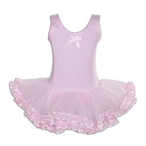 New-Girls-Pink-Ballet-Dance-Tutu-Dress-5-6-Years