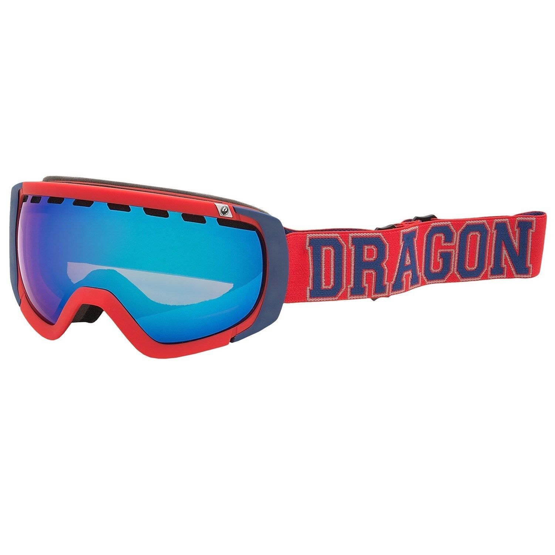 Dragon Rogue Goggles Winter Ski Snow Goggles Ionized Lens Team Spirit Red/Blue Steel