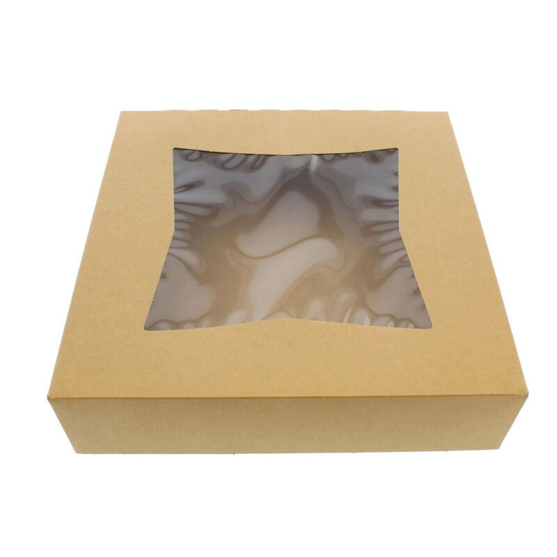 "Spec101 | Easy Popup Pie Boxes with Window 10"" Inch Bakery Boxes Pie Containers"
