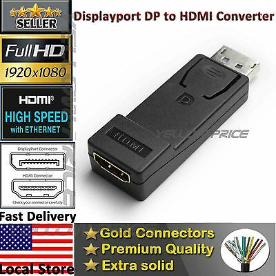Display Port to HDMI Converter with Audio Adapter, Local American Seller