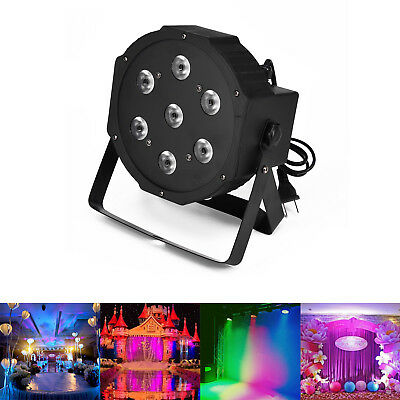 Best 84W Watt Stage lights Wedding Party 7 LED Par Can DJ DMX RGBW Uplighting