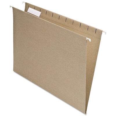 Pendaflex Earthwise Recycled Colored Hanging File Folders 15 Tab Letter Natural