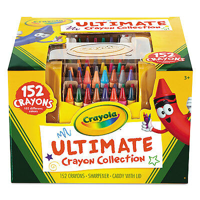 Crayola Ultimate Crayon Case Sharpener Caddy 152 Colors 5200