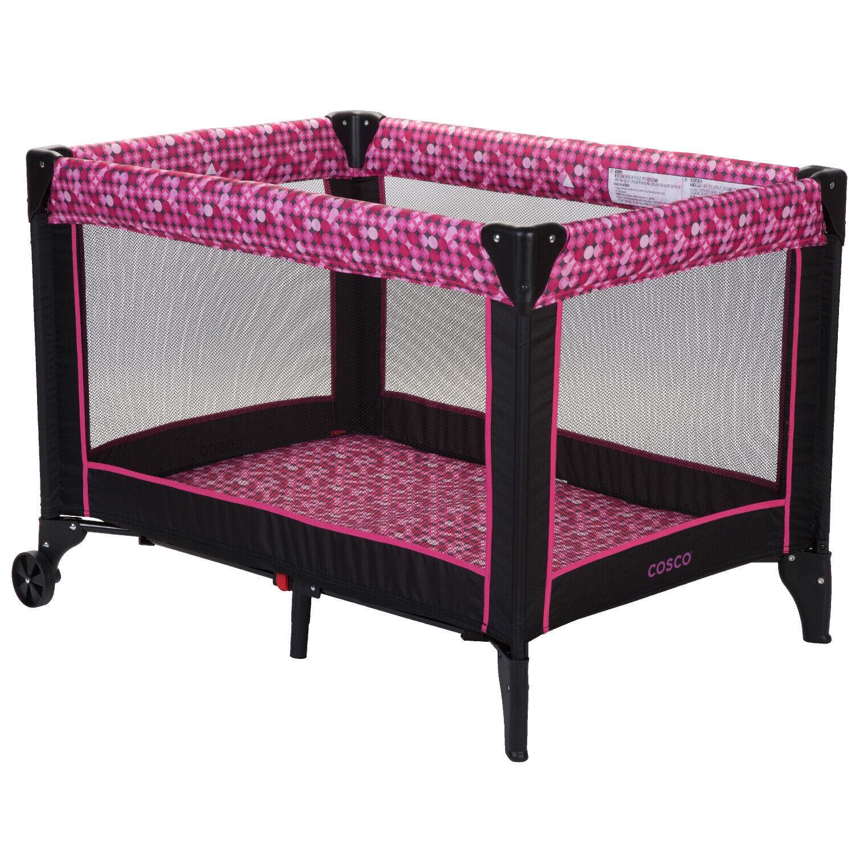 Portable Crib Playpen Baby Toddler Kid Travel Infant Bassine