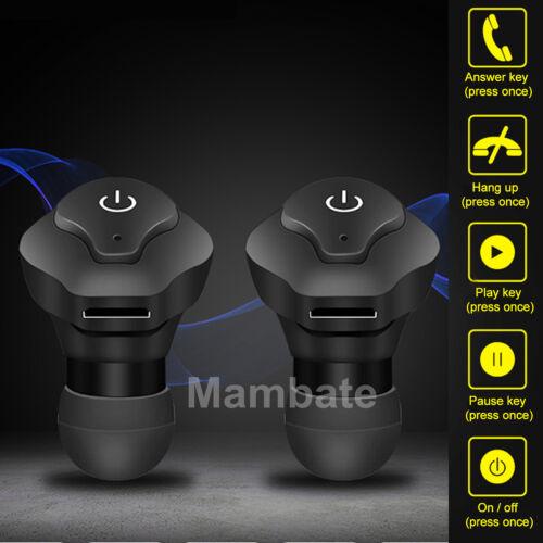 Mini True Wireless Twins Bluetooth Earbuds In-Ear Stereo Earphones Sport Headset