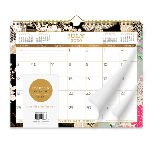 Academic Calendar 2020-2021 | Medium 11 x8.75 | FREE Shipping for Continental US