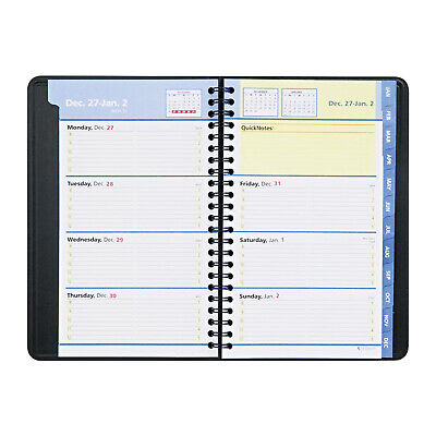 At-a-glance Quicknotes Weeklymonthly Appointment Book 4-78 X 8 Black Ea -