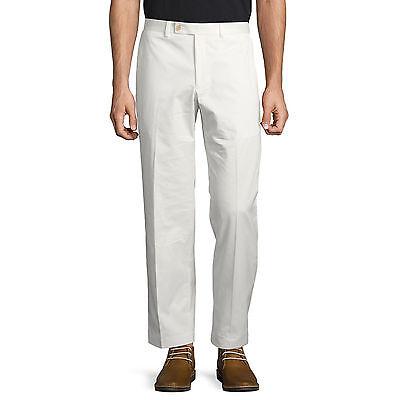 Lauren Ralph Lauren Pants Mens White Flat Front Trousers 100% Cotton Chinos