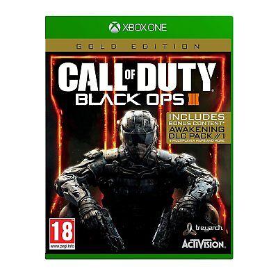 Call of Duty Black Ops 3 III - Gold Edition [Microsoft Xbox One Bonus COD