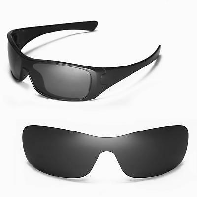 0783d9eb776 New Walleva Polarized Black Replacement Lenses For Oakley Antix Sunglasses