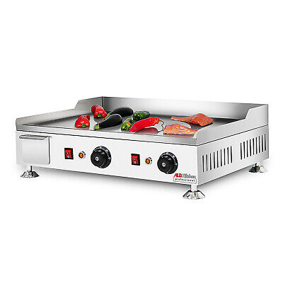 Flat Top Griddle Teppanyaki Grill With Three Thermostats 24.2x17.6 110v