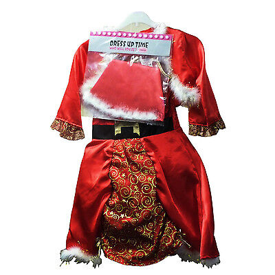 1 Year Old Girl Costumes (Ladybird Girls Nativity Santa Costume - Ages 1-2, 3-5 or 5-8 Years Old)