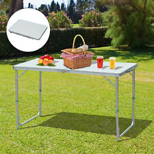 4ft Camping Picnic Table Backyard Party BBQ Foldable Adjustable w/ Carry Handle