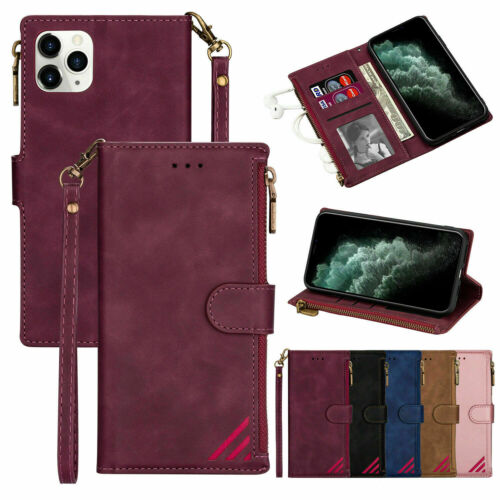 Flip Zipper Leather Card Wallet Case Cover For IPhone 12 11 Pro Max XS XR X 7 8  - $9.99