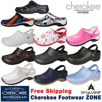 Anywear Clogs - Cherokee Anywear ZONE Unisex Workwear Injected Clog with Backstrap Shoe