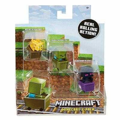 Minecraft Mini-Figure in Minecart 3-Pack: Ocelot, Zombie & Enderman](Ocelot In Minecraft)