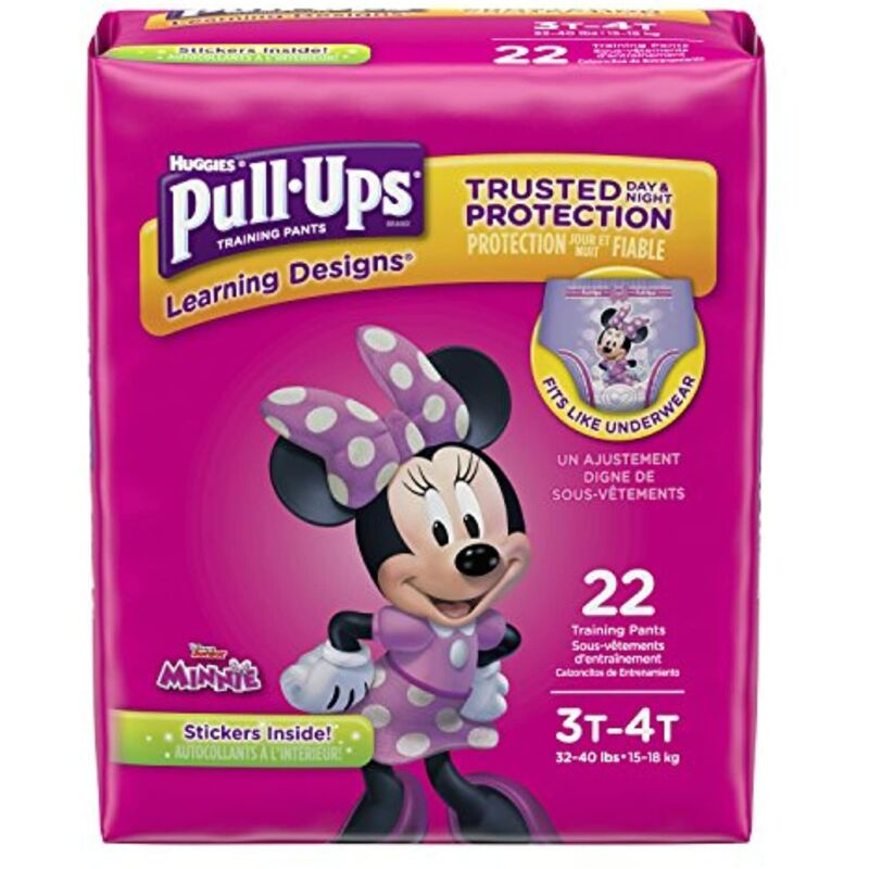 Pull-Ups Learning Designs for Girls Potty Training Pants 22 CT