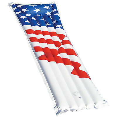 "Swimline 72"" Inflatable American Flag Swimming Pool and Lake Float Raft 