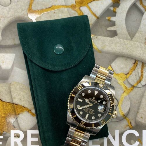 Green Velvet Watch Pouch Fits Rolex and many others