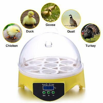 Semi-Automatic Digital Egg Incubator 7 Eggs Mini Poultry Chicken Duck Hatcher UK