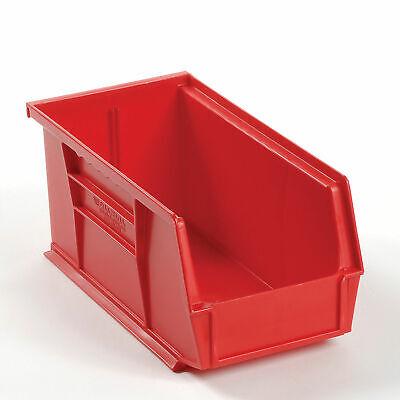Plastic Storage Bin - Small Parts 5-12 X 10-78 X 5 Red Lot Of 12