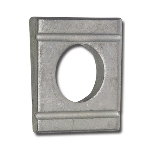 10 Shim Oblique 0 7/16in For Shape Profile U Stainless Steel A4 din 434