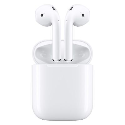 Apple AirPods with Charging Case MV7N2AM/A + USB Cable A2032 A2031 A1602 Good!