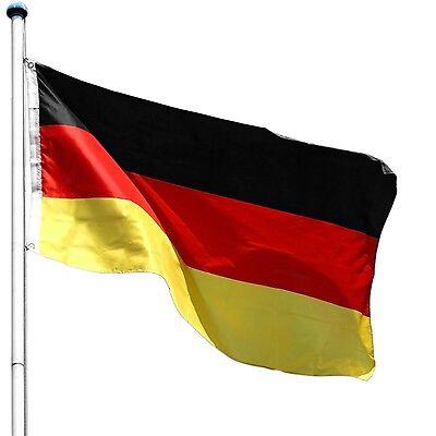 FLAGMASTER Aluminium Fahnenmast 6,50 m Fahnenstange Flaggenstange inkl Fahne