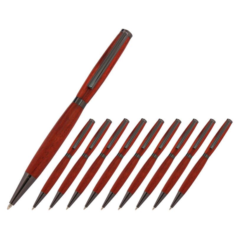 Slimline Pen Kit, Gun Metal Finish, 10 Pack, Legacy Woodturning