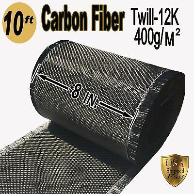 10 Ft X 8 - Carbon Fiber Fabric-twill Weave-12k400g
