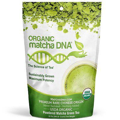 MatchaDNA Certified Organic Matcha Green Tea (12 oz)