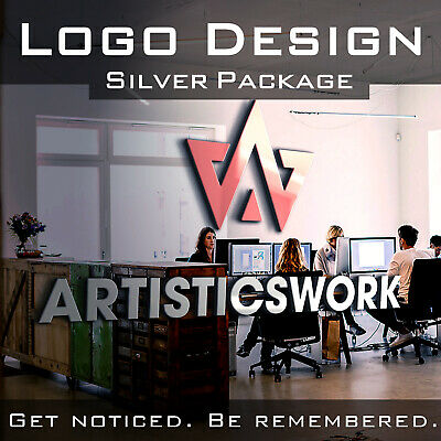 CUSTOM LOGO DESIGN | PROFESSIONAL BUSINESS LOGO | UNLIMITED REV - SILVER -