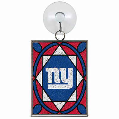 NEW YORK GIANTS STAINED GLASS SUN CATCHER/ORNAMENT NEW & OFFICIALLY LICENSED ()