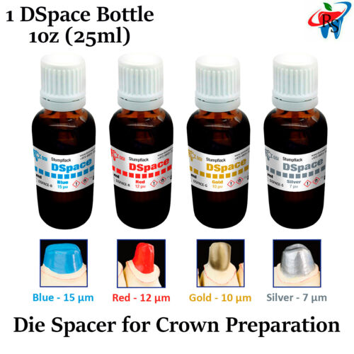 1x DSpace Dental Lab Stumpflack Die Spacer Model Crown Preparation 1oz 25ml