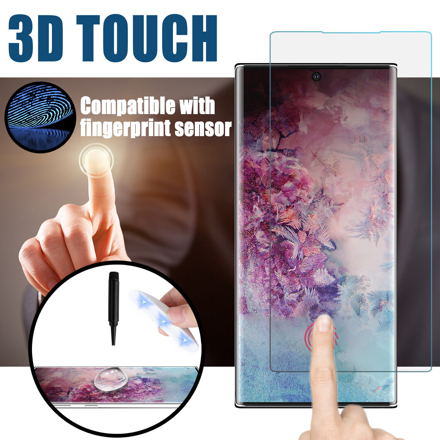 For Samsung Galaxy Note 10+ Plus Screen Protector UV Light T