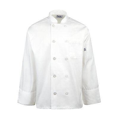 Linteum Textile Unisex White Chef Coats 6535 Polycotton Blend Sizes Xs-4xl