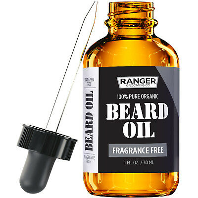 Fragrance Free Beard Oil & Leave In Conditioner, 100% Pure N