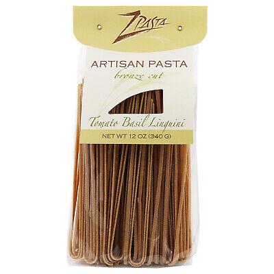 ZPasta Sun-Dried Tomato Basil Linguini -  Bronze Cut Artisan Pasta 12 - Sun Dried Tomato Basil