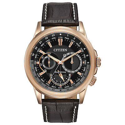 Citizen Eco-Drive Calendrier Men's World Time Day-Date 44mm Watch BU2023-04E