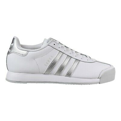 Photo Men`s adidas Originals Samoa Shoes -  White / Silver Metallic / Grey - AQ7906
