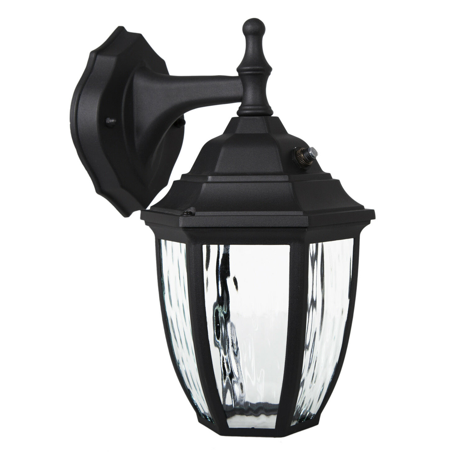 Maxxima Led Outdoor Wall Light  Black W   Clear Glass