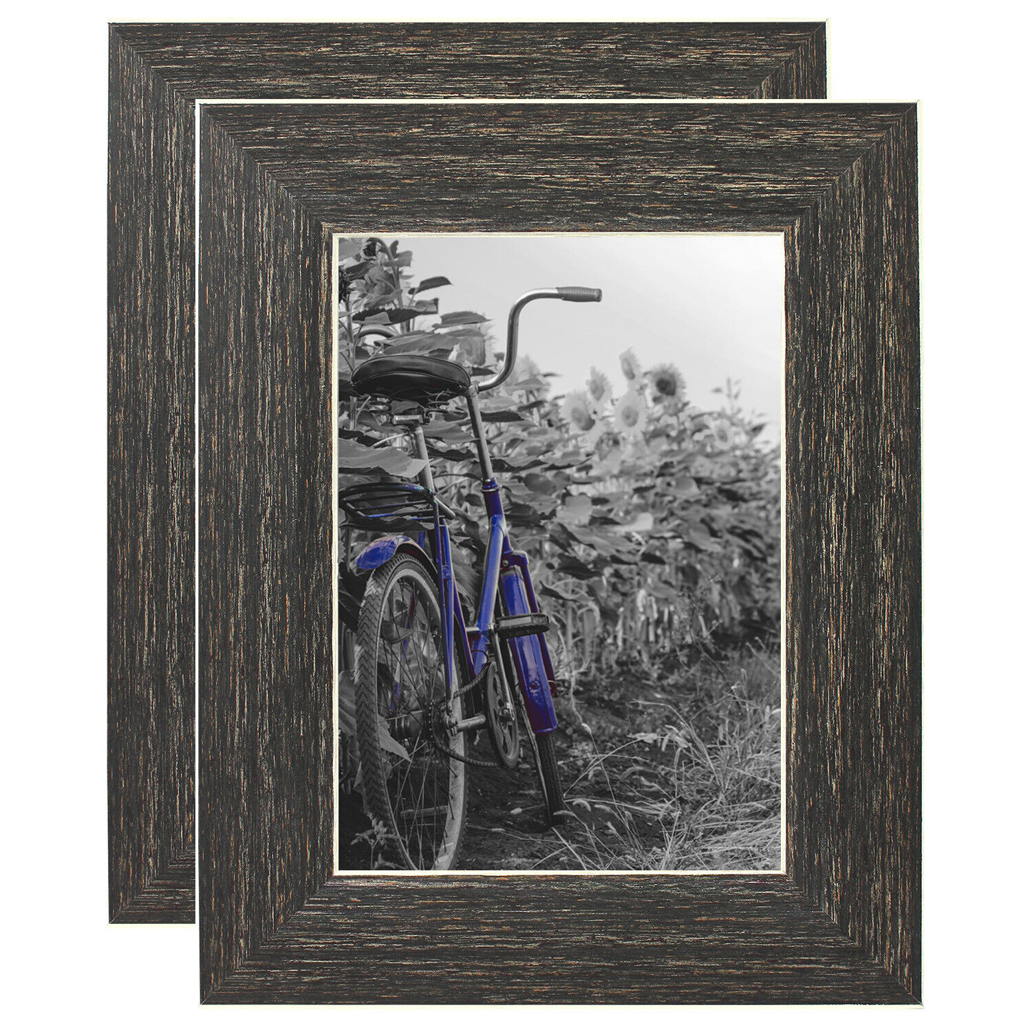 Americanflat 2 Pack - 5x7 Rustic Style Picture Frames - Buil