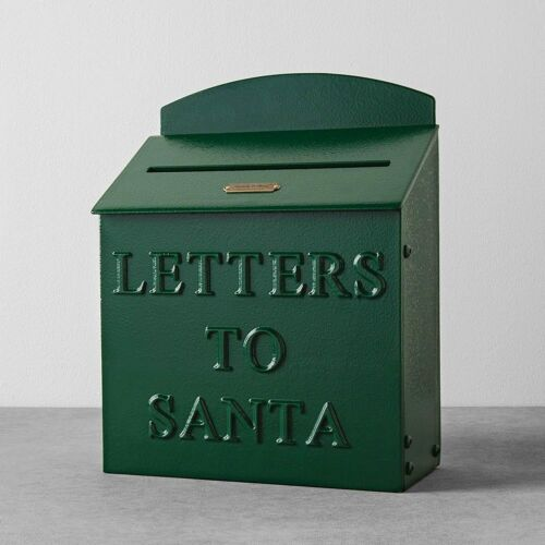 Hearth and Hand Mailbox Letters to Santa Green Farmhouse Decor