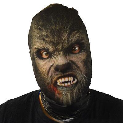 Klassisch Werwolf Design 3D Effekt Lycra Maske Stoff-Gesichtsmaske (Klassische Horror Kostüme)