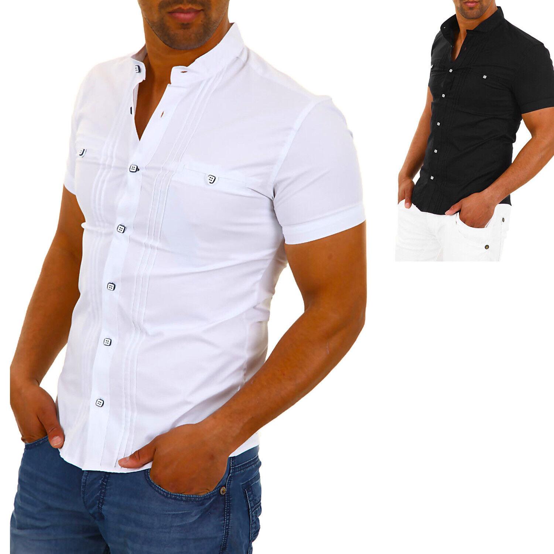 Carisma Herren Langarmhemd Freizeithemd Elegant Kontrast Business Hemd Anzug /%