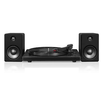 Victrola Modern 3 Speed Bluetooth Turntable with 50 Watt Speakers - Black
