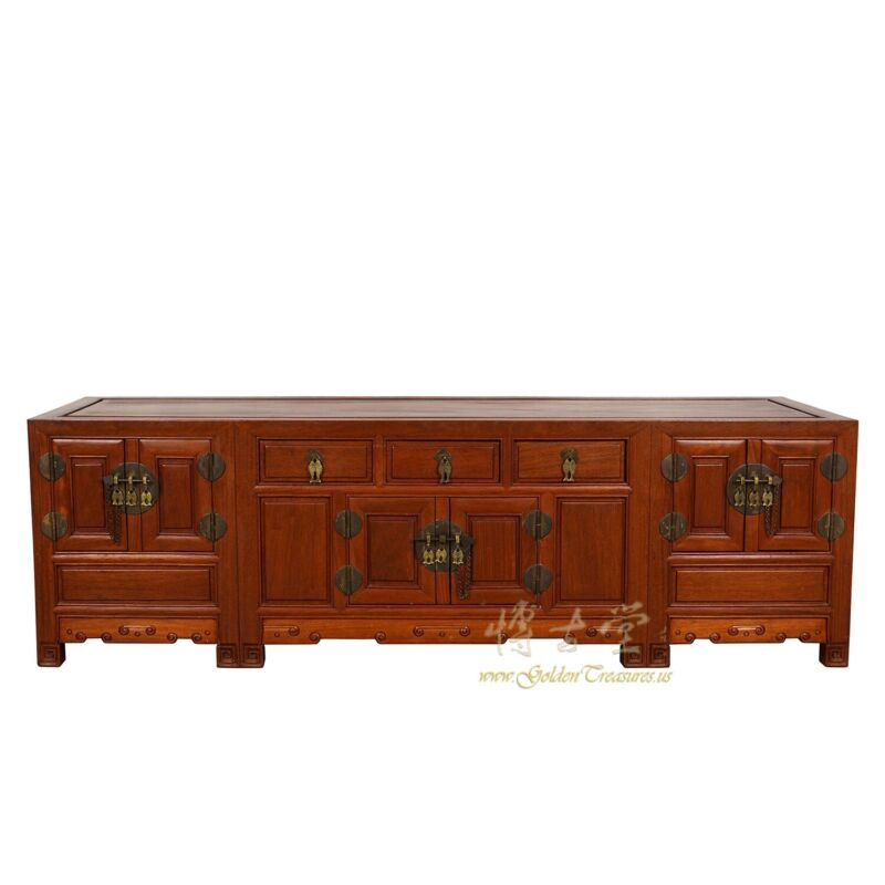 Vintage Chinese Rosewood Bed Foot chest/Coffee Table/TV Stand
