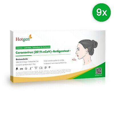 9 x Hotgen Corona Schnelltest Selbsttest Laien Test Antigen BfArM Nasal COVID-19