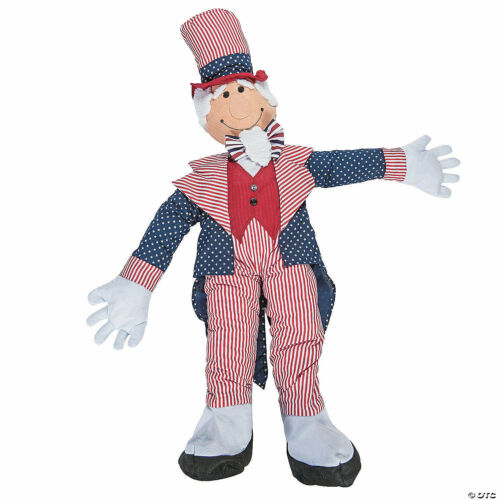 Stuff-an-Uncle Sam Patriotic Flag 4th Of July Porch Decoration